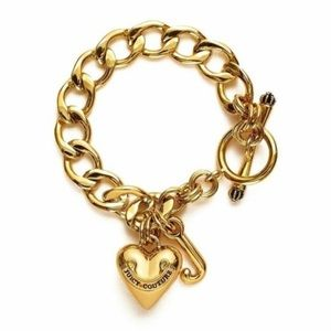 Juicy Couture Gold Tone Starter Charm Bracelet